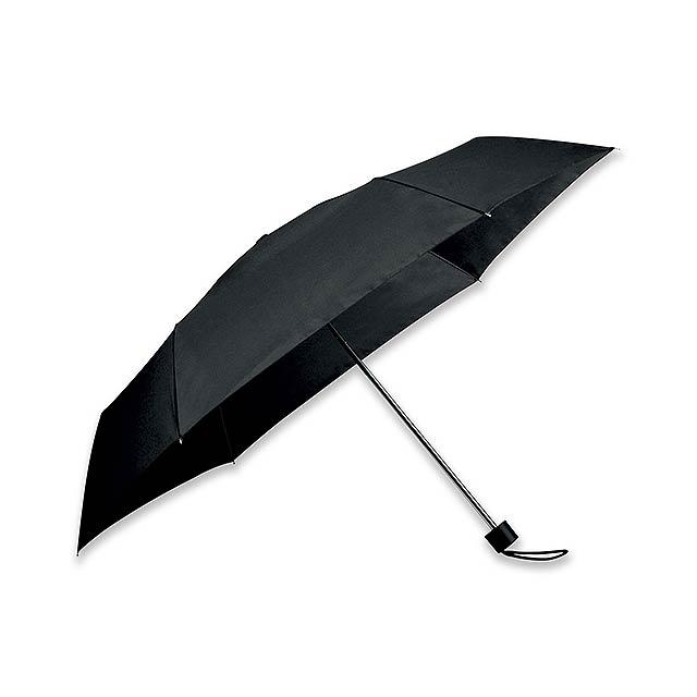 SEAGULL - polyesterový skládací manuální deštník, 6 panelů - černá