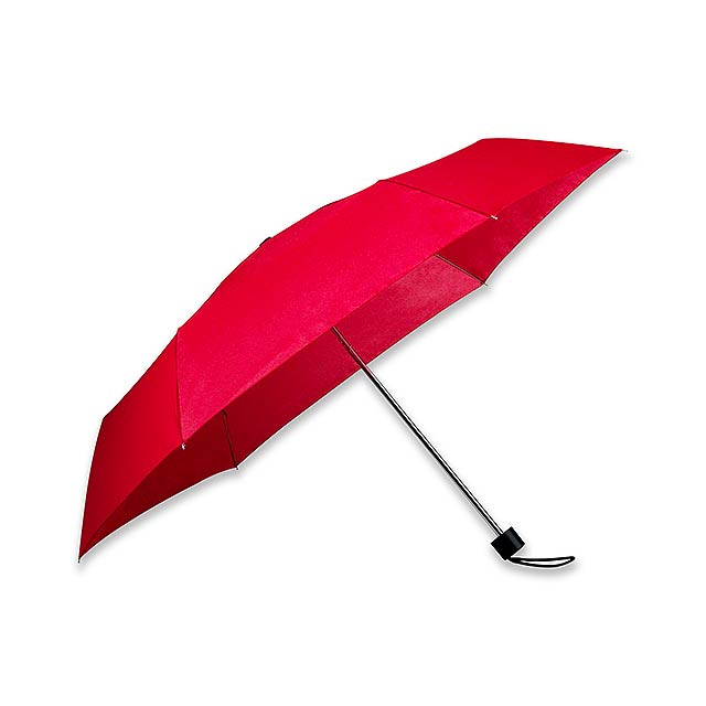 SEAGULL - polyesterový skládací manuální deštník, 6 panelů - červená