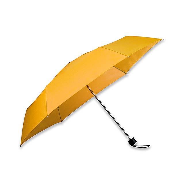 SEAGULL - polyesterový skládací manuální deštník, 6 panelů - žlutá