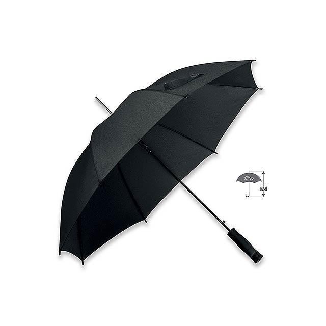 DARNEL - polyesterový vystřelovací deštník, 8 panelů - černá
