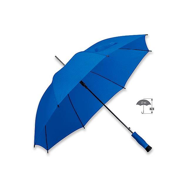 DARNEL - polyesterový vystřelovací deštník, 8 panelů - modrá