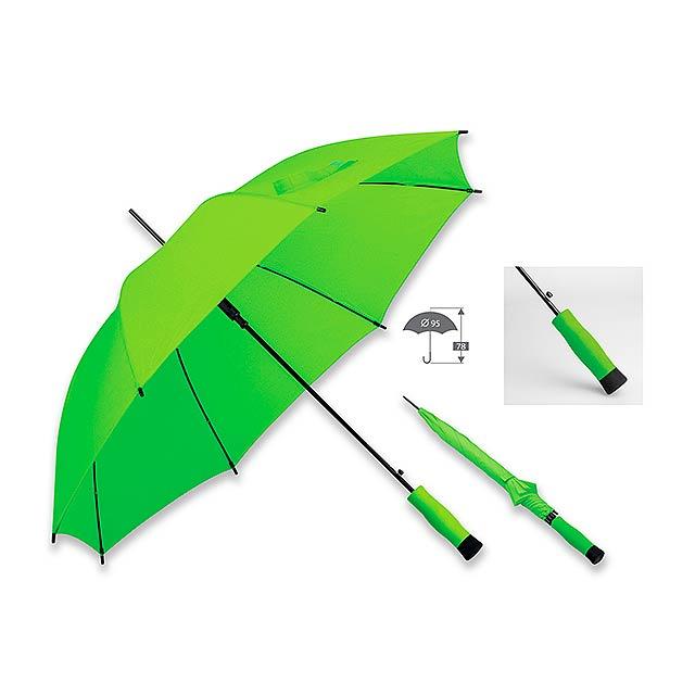 DARNEL polyesterový vystřelovací deštník, 8 panelů, Světle zelená - zelená