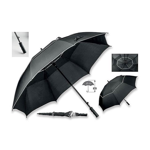 polyesterový deštník na golf - černá - foto