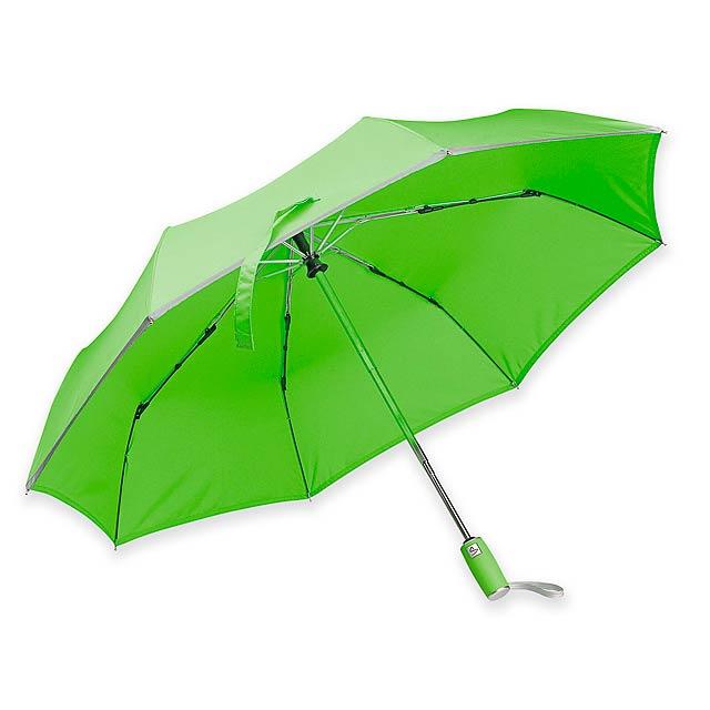 UMA polyesterový skládací deštník, open/close, 8 panelů, SANTINI, Světle zelená - zelená