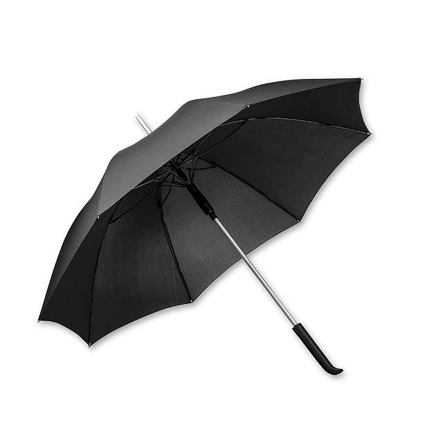 SESSIL - polyesterový vystřelovací deštník, 8 panelů, SANTINI - černá