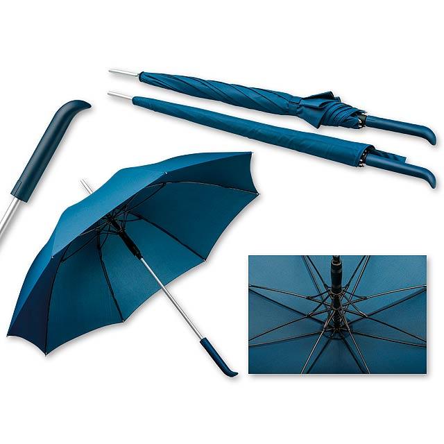 SESSIL - polyesterový vystřelovací deštník, 8 panelů, SANTINI - modrá