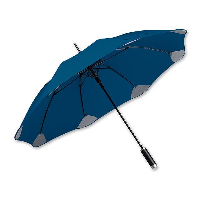 PULA - polyesterový vystřelovací deštník, 8 panelů, SANTINI - modrá