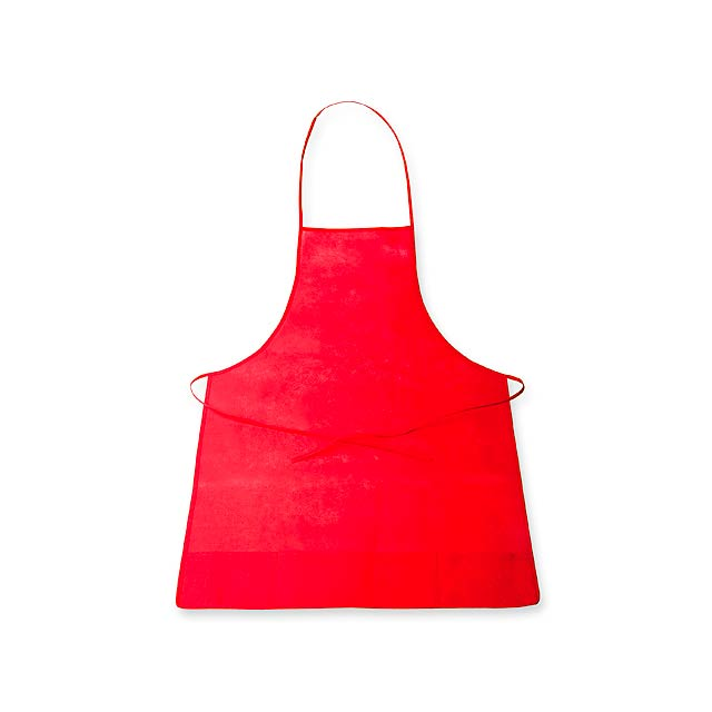 APRON - zástěra z netkané textilie, 70 g/m2 - červená
