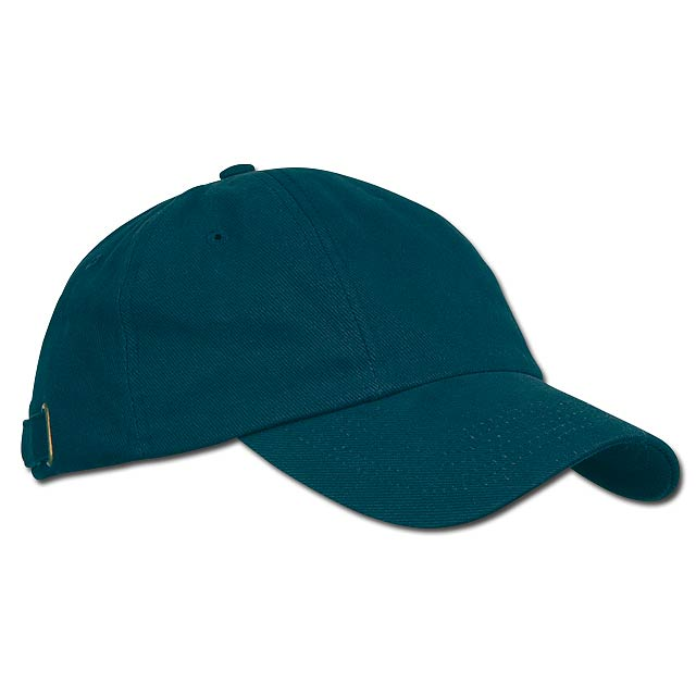 RADO - bavlněná baseballová čepice, kovová spona, 6 panelů - modrá