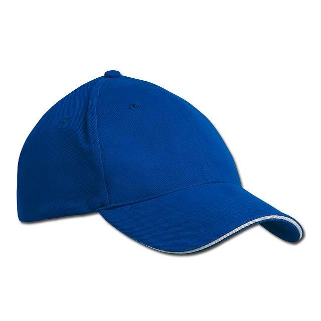 HEAVY - bavlněná baseballová čepice, suchý zip, 6 panelů - modrá