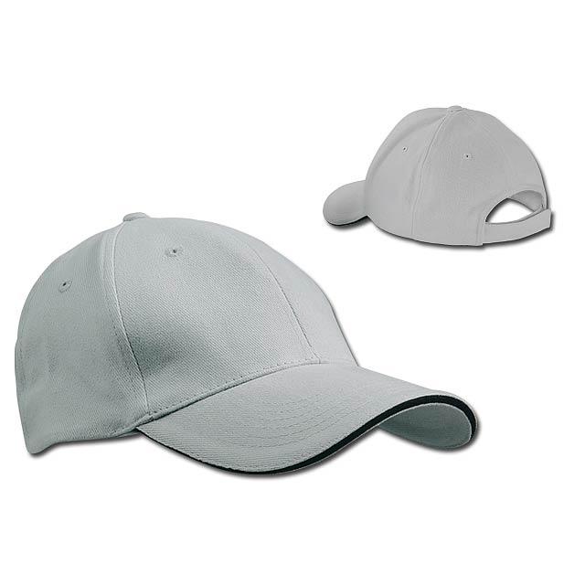 HEAVY - bavlněná baseballová čepice, suchý zip, 6 panelů - šedá