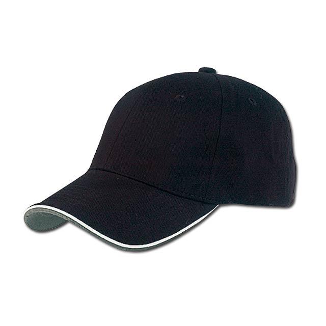 PIPING - baseballová čepice, COFEE - černá