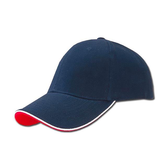 baseballová čepice, COFEE - modrá - foto