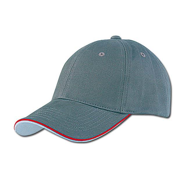 PIPING - baseballová čepice, COFEE - šedá