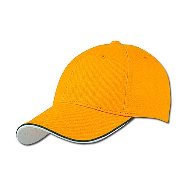 PIPING - baseballová čepice, COFEE - žlutá