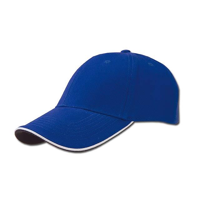 PIPING - baseballová čepice, COFEE - modrá