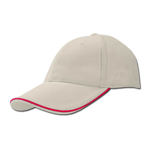 PIPING - baseballová čepice, COFEE - hnědá