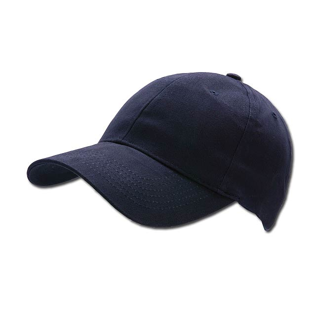 POPULAR CAP - baseballová čepice, COFEE - modrá