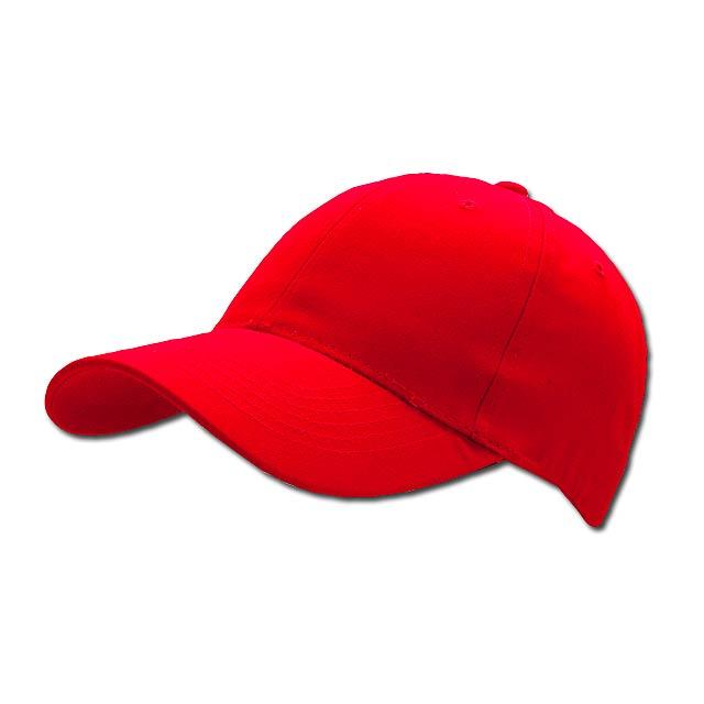 baseballová čepice, COFEE - červená - foto