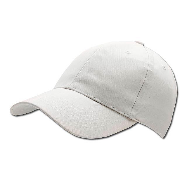 POPULAR CAP - baseballová čepice, COFEE - bílá