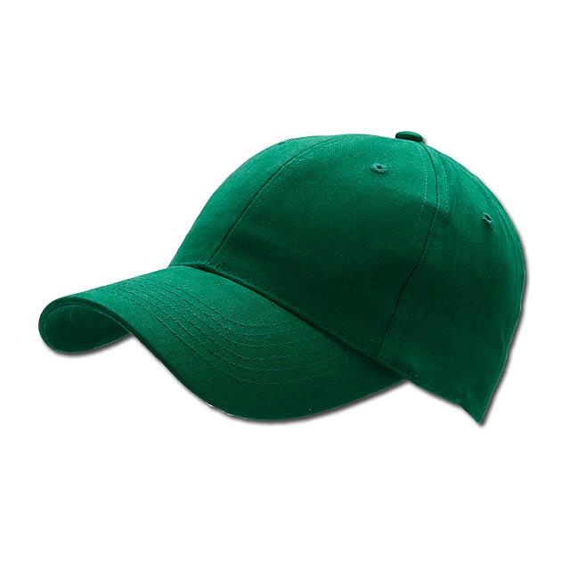 POPULAR CAP - baseballová čepice, COFEE - zelená