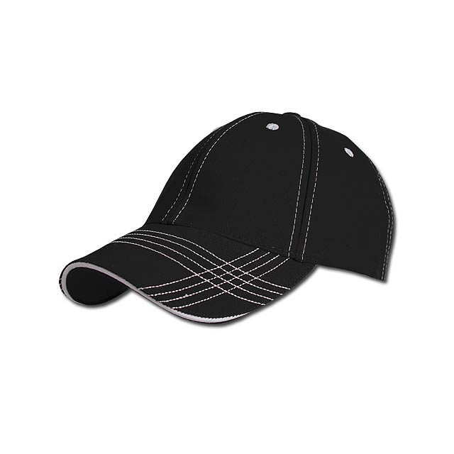 TRENDY - baseballová čepice, COFEE - černá