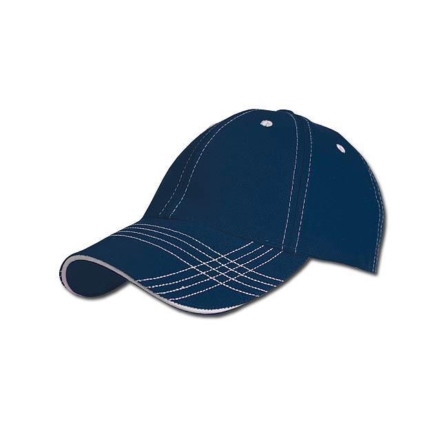 TRENDY - baseballová čepice, COFEE - modrá