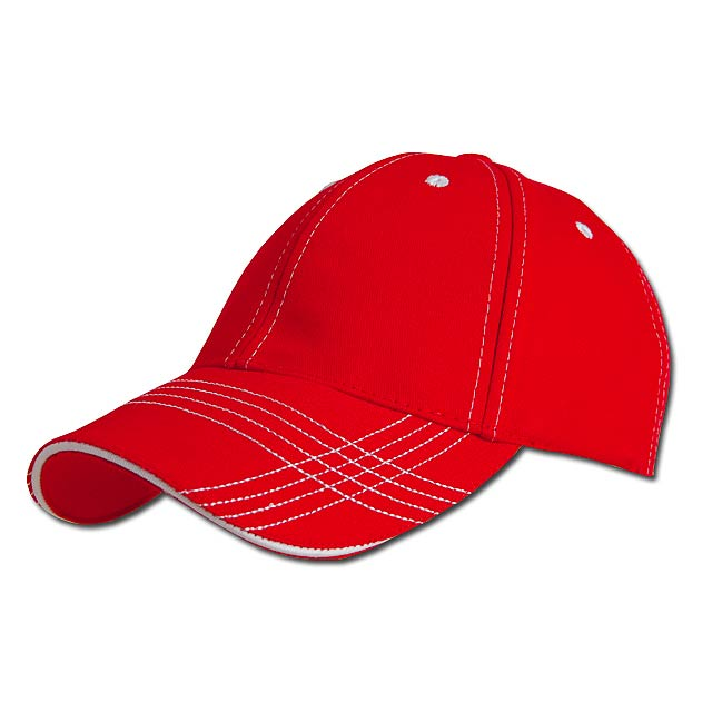 TRENDY - baseballová čepice, COFEE - červená
