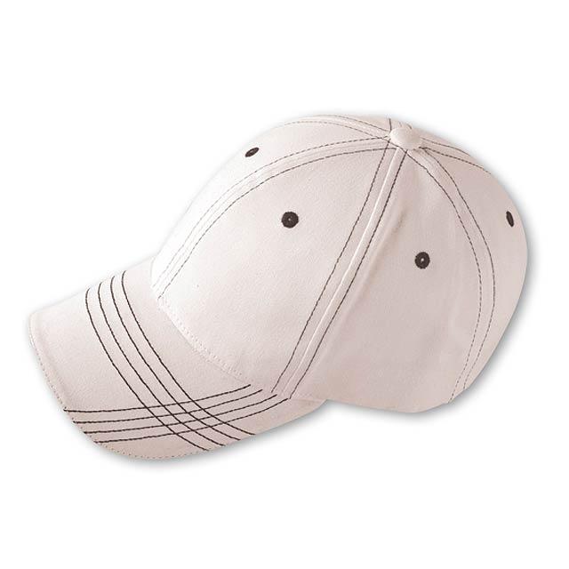 TRENDY - baseballová čepice, COFEE - bílá
