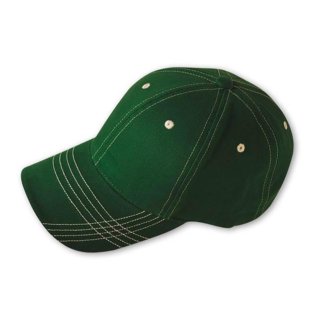 TRENDY - baseballová čepice, COFEE - zelená