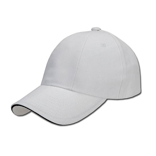 TURNED SANDWICH - baseballová čepice, COFEE - bílá