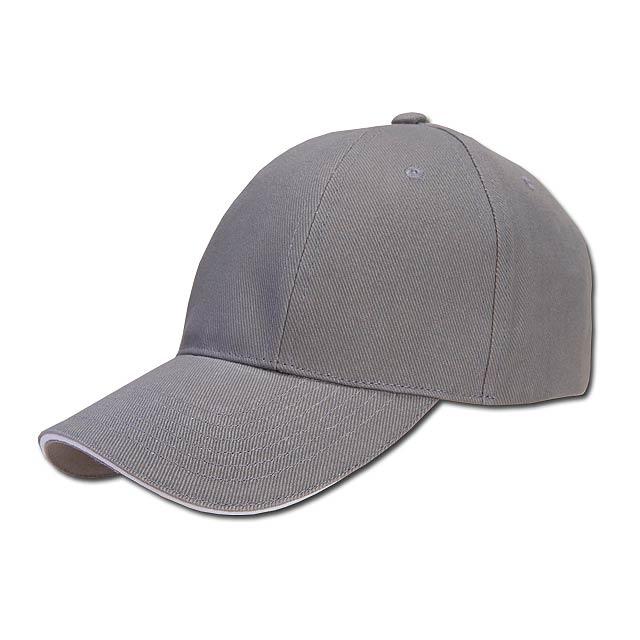 baseballová čepice, COFEE - šedá - foto