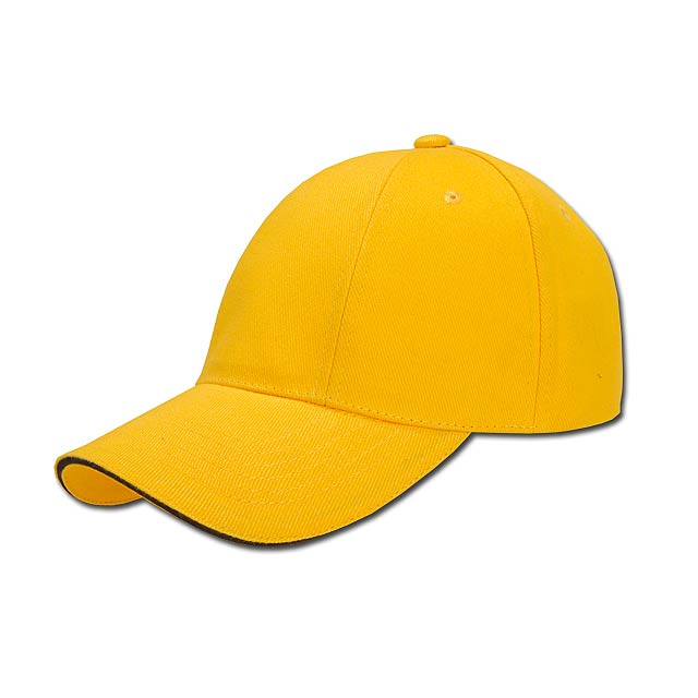 TURNED SANDWICH - baseballová čepice, COFEE - žlutá