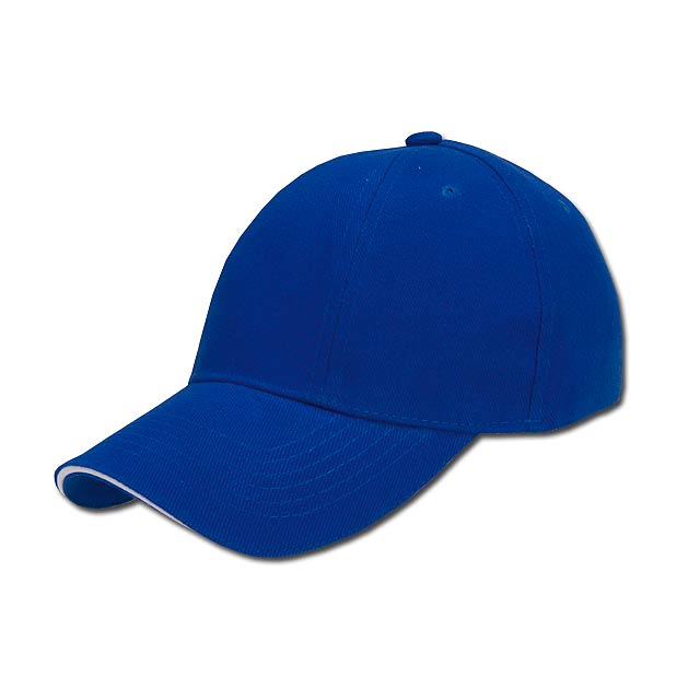 TURNED SANDWICH - baseballová čepice, COFEE - modrá