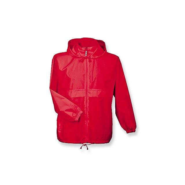 SIROCCO - unisex větrovka s kapucí, vel. M, B & C - červená