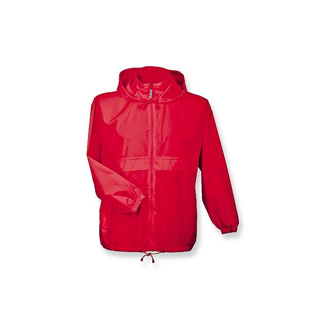 SIROCCO - unisex větrovka s kapucí, vel. L, B & C - červená