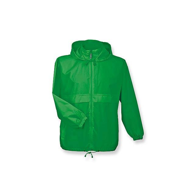 unisex větrovka s kapucí, vel. L, B & C - žlutá - foto
