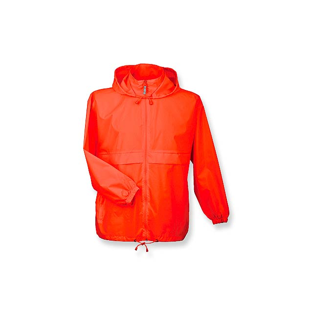 SIROCCO unisex větrovka s kapucí, vel. L, B & C, Oranžová - oranžová