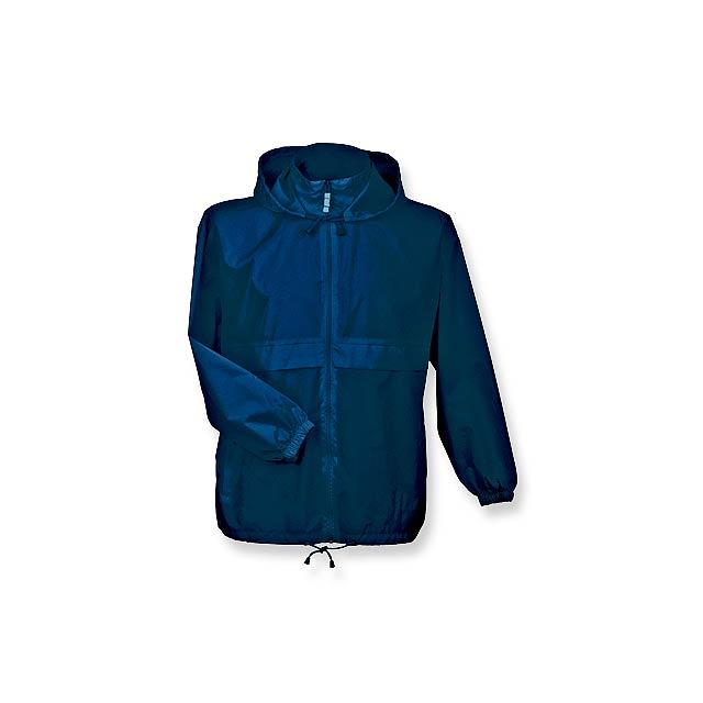 SIROCCO - unisex větrovka s kapucí, vel. L, B & C - modrá
