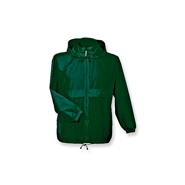 SIROCCO - unisex větrovka s kapucí, vel. L, B & C - zelená