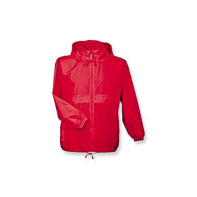 SIROCCO - unisex větrovka s kapucí, vel. XL, B & C - červená