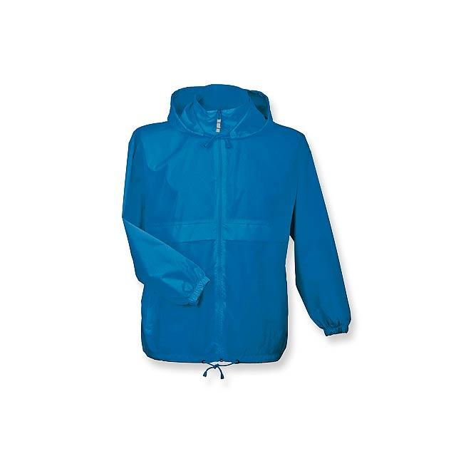 unisex větrovka s kapucí, vel. XL, B & C - modrá - foto