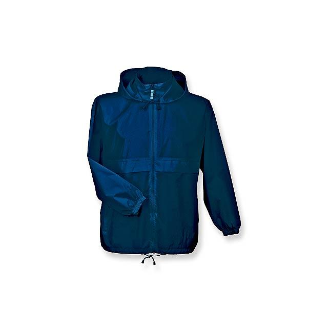 SIROCCO - unisex větrovka s kapucí, vel. XL, B & C - modrá