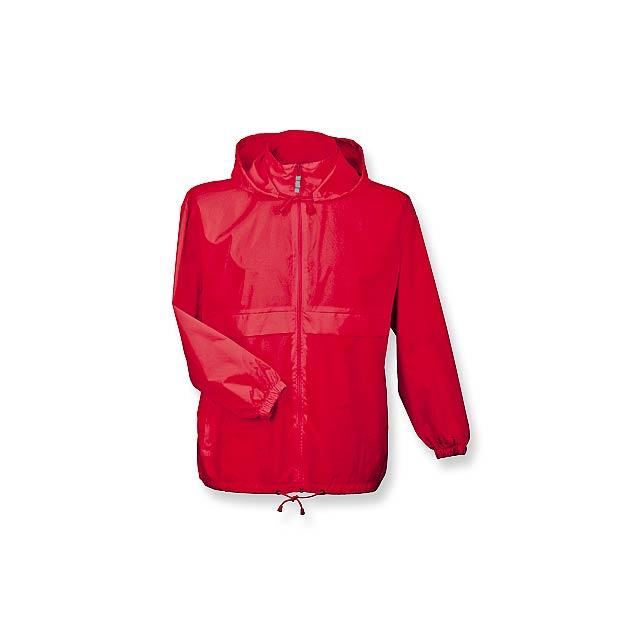 SIROCCO - unisex větrovka s kapucí, vel. XXL, B & C - červená