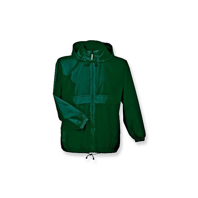 SIROCCO - unisex větrovka s kapucí, vel. XXL, B & C - zelená