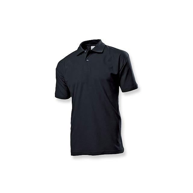 POLO MEN - pánská polokošile, 170 g/m2, vel. S, STEDMAN - černá