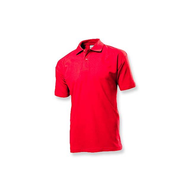 POLO MEN - pánská polokošile, 170 g/m2, vel. S, STEDMAN - červená