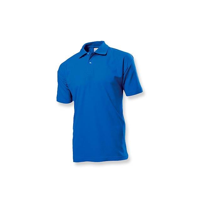 POLO MEN - pánská polokošile, 170 g/m2, vel. S, STEDMAN - modrá