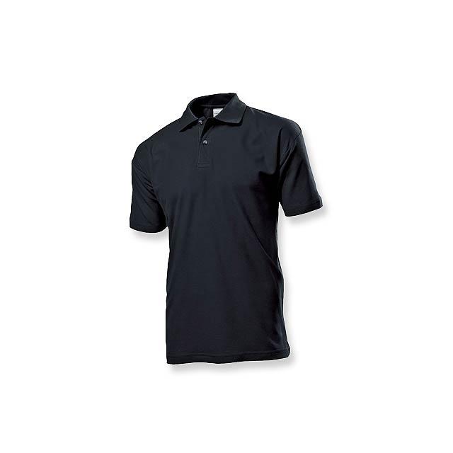 POLO MEN - pánská polokošile, 170 g/m2, vel. M, STEDMAN - černá