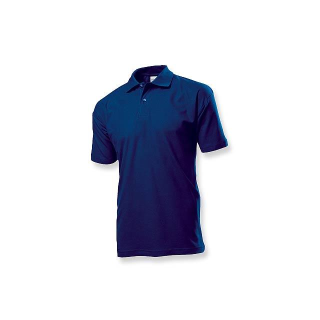 POLO MEN - pánská polokošile, 170 g/m2, vel. M, STEDMAN - modrá
